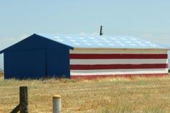 Bandera Warehouse de los E.E.U.U. Imagen de archivo