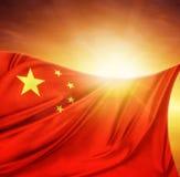 Bandera y cielo Fotos de archivo libres de regalías