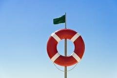 Bandera y flotador Fotografía de archivo libre de regalías