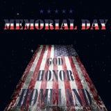 Bandera y letras 15 de Memorial Day Fotos de archivo libres de regalías