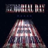 Bandera y letras 16 de Memorial Day Fotos de archivo libres de regalías