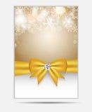 Bandera y tarjeta del sitio web de los copos de nieve de la Navidad Foto de archivo libre de regalías