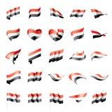 Bandera yemení, ejemplo del vector Fotos de archivo libres de regalías