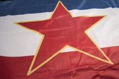Bandera yugoslava Fotografía de archivo