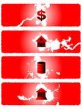 Banderas 02 de la crisis de la bolsa ilustración del vector