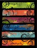 Banderas 2 de Grunge Foto de archivo