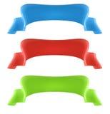 banderas 3D Ilustración del Vector