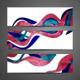 Banderas abstractas Imagenes de archivo
