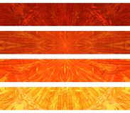 Banderas abstractas stock de ilustración
