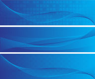 Banderas abstractas azules ilustración del vector