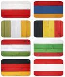 Banderas abstractas de los países diferentes Imagen de archivo libre de regalías