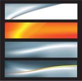 Banderas abstractas del asunto ilustración del vector