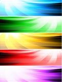 Banderas abstractas del estilo Imágenes de archivo libres de regalías