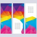 Banderas abstractas del vector. Foto de archivo libre de regalías