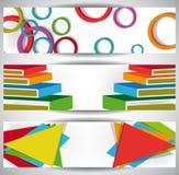 Banderas abstractas del Web Foto de archivo libre de regalías