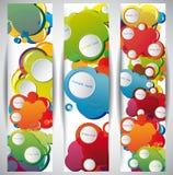 Banderas abstractas del Web Imagen de archivo libre de regalías
