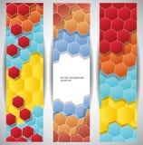 Banderas abstractas del Web Fotografía de archivo libre de regalías