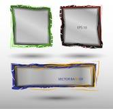 Banderas abstractas translúcidas del vector en diversos colores Foto de archivo