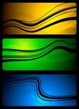 Banderas abstractas vibrantes Fotografía de archivo