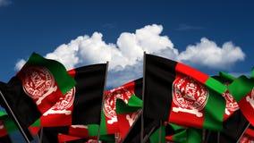 Banderas afganas que agitan libre illustration
