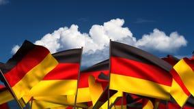 Banderas alemanas que agitan stock de ilustración