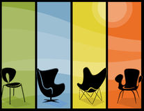 Banderas altas de la silla moderna