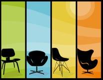 Banderas altas de la silla moderna stock de ilustración