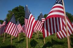 20.000 banderas americanas Foto de archivo libre de regalías