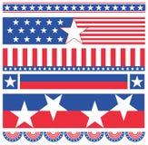 Banderas americanas Fotografía de archivo libre de regalías