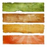 Banderas artísticas coloridas Stock de ilustración