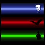 Banderas asustadizas del vector Imagen de archivo libre de regalías