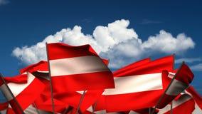 Banderas austríacas que agitan libre illustration