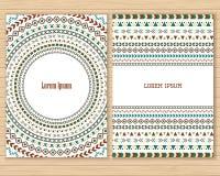 Banderas aztecas tribales del vector Imágenes de archivo libres de regalías