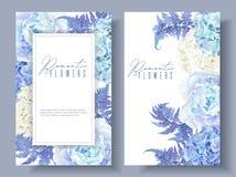Banderas azules florales libre illustration