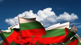 Banderas búlgaras que agitan libre illustration
