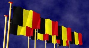 Banderas belgas Imágenes de archivo libres de regalías