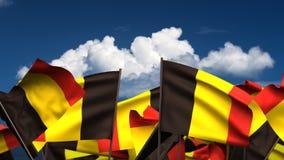 Banderas belgas que agitan libre illustration