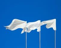 Banderas blancas Imágenes de archivo libres de regalías