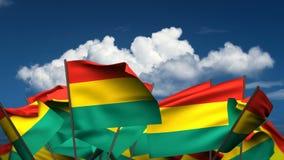 Banderas bolivianas que agitan libre illustration