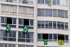 Banderas brasileñas imagenes de archivo