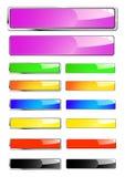 Banderas brillantes del Web stock de ilustración
