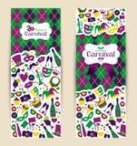 Banderas brillantes y recepción del carnaval del vector al carnaval Imagen de archivo