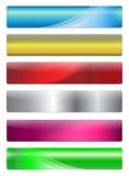 Banderas, cabeceras ilustración del vector