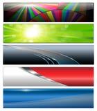 Banderas, cabeceras stock de ilustración