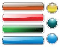 Banderas, cabeceras fijadas ilustración del vector