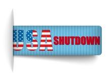 Banderas cerradas de los E.E.U.U. del cierre del gobierno. Fotografía de archivo libre de regalías
