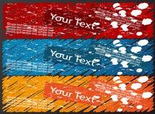 Banderas coloreadas Imagen de archivo libre de regalías