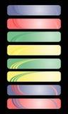 Banderas coloreadas Fotografía de archivo libre de regalías