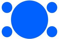 Banderas coloreadas circulares - círculos azules Puede ser utilizado para el propósito del ejemplo, fondo, página web, negocios,  ilustración del vector