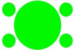 Banderas coloreadas circulares - c?rculos verdes Puede ser utilizado para el prop?sito del ejemplo, fondo, p?gina web, negocios,  ilustración del vector
